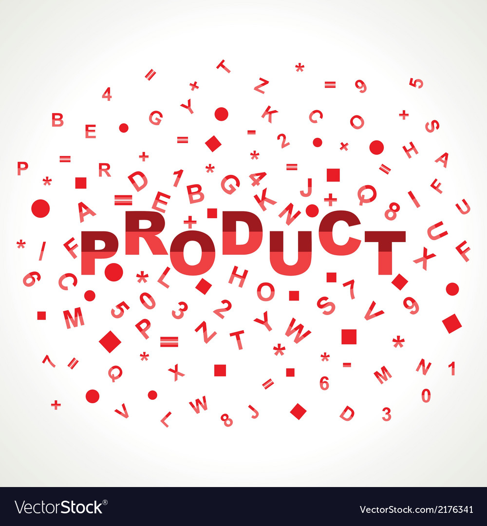 Product word with in alphabets vector | Price: 1 Credit (USD $1)