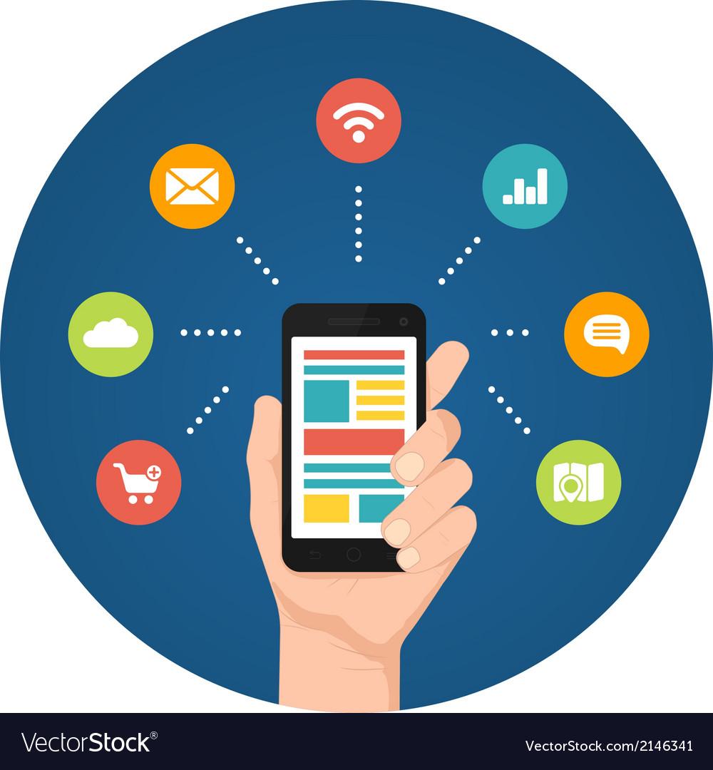 Smartphone apps infographics vector | Price: 1 Credit (USD $1)