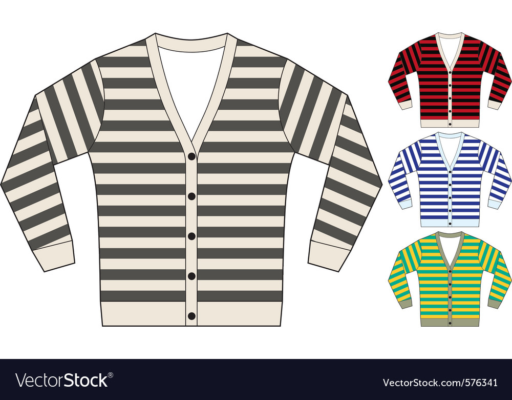 Stripe sweatshirt template vector | Price: 1 Credit (USD $1)