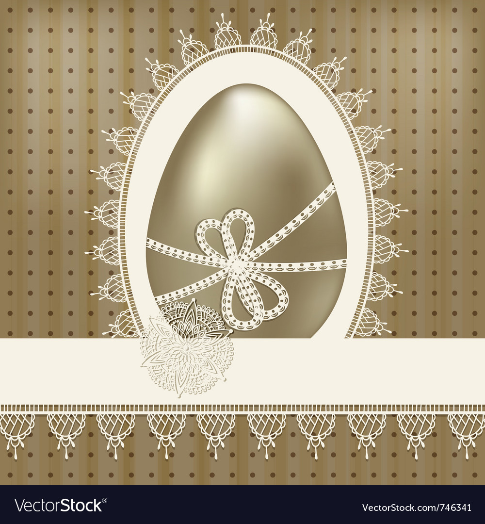 Vintage easter greeting vector | Price: 1 Credit (USD $1)