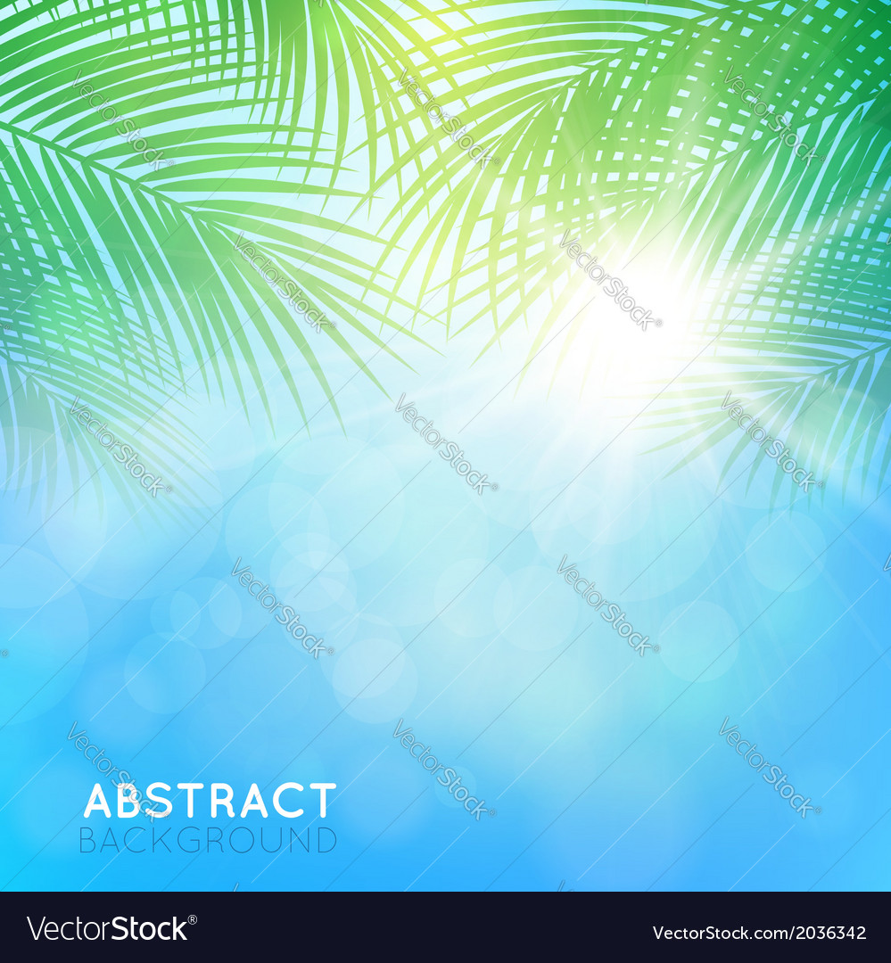 Abstract background with palm branches vector | Price: 1 Credit (USD $1)