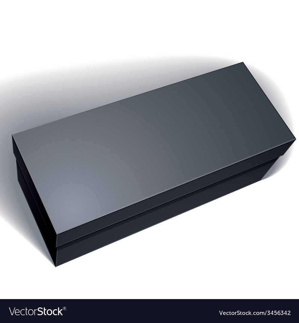Blank black box isolated on white background vector | Price: 1 Credit (USD $1)