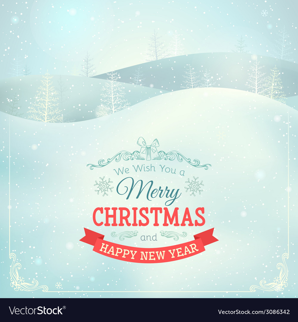 Christmas landscape background vector | Price: 1 Credit (USD $1)