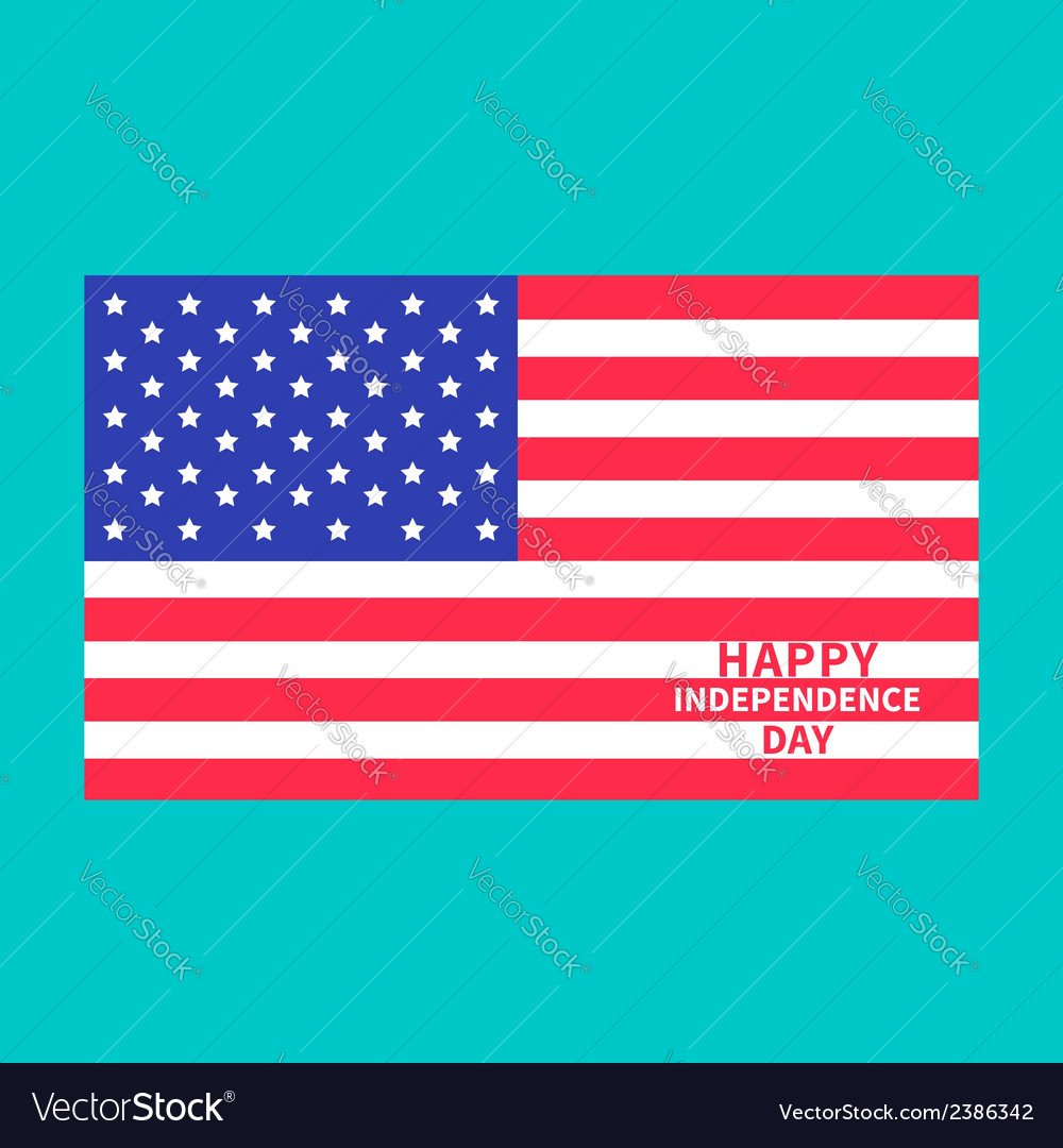 Independence day us of america 4th of july center vector | Price: 1 Credit (USD $1)