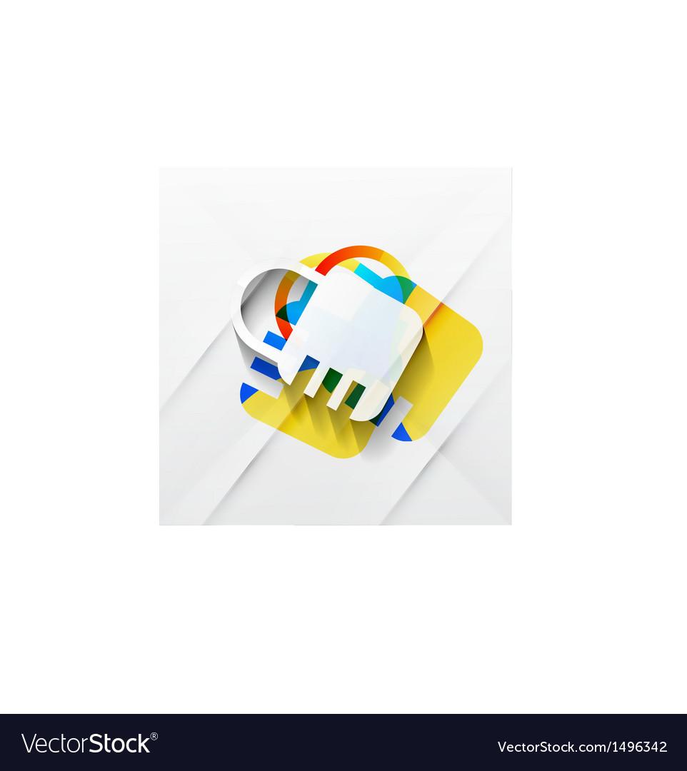Lock modern colorful design vector | Price: 1 Credit (USD $1)