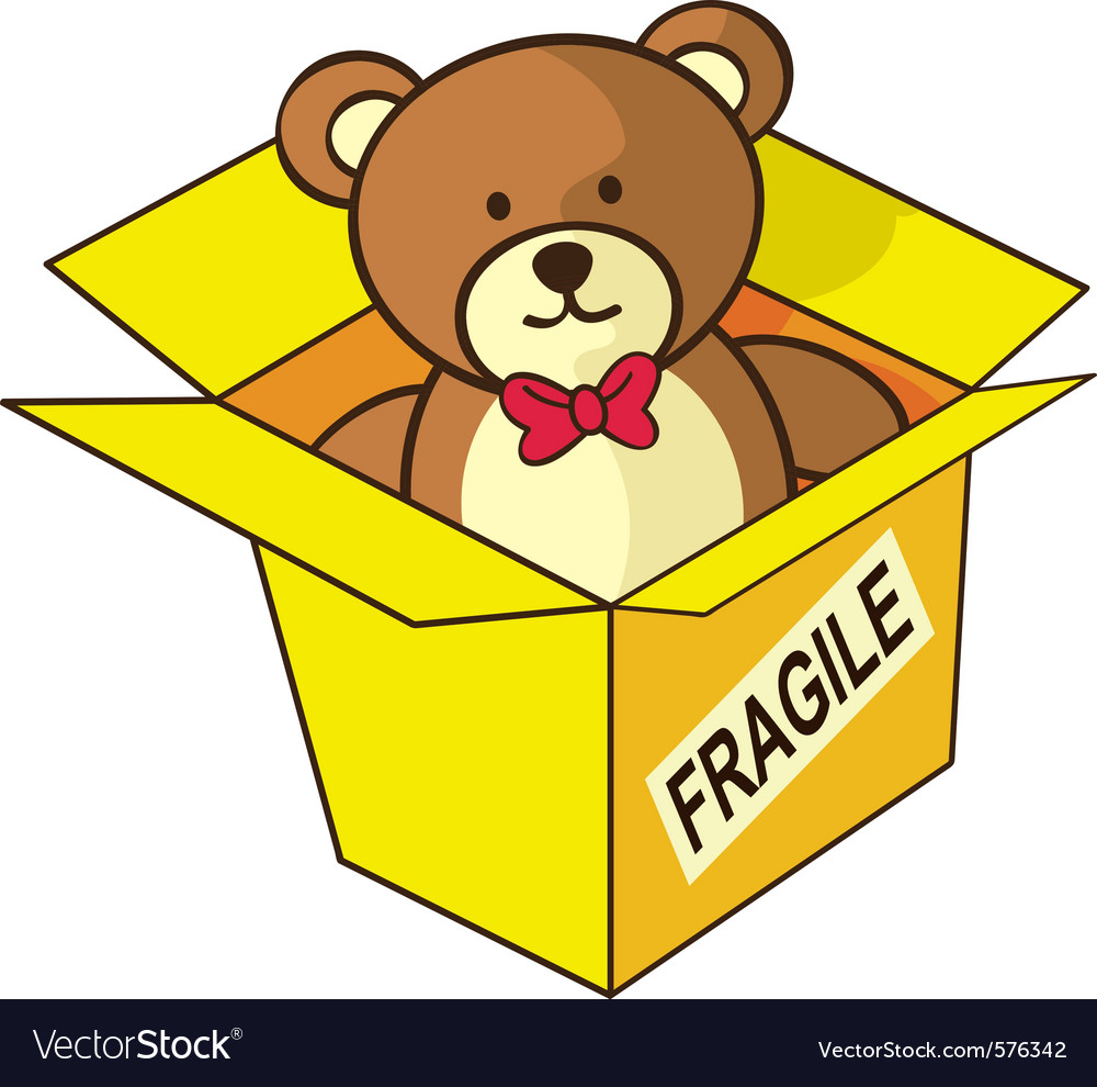 Teddy bear gift vector | Price: 1 Credit (USD $1)