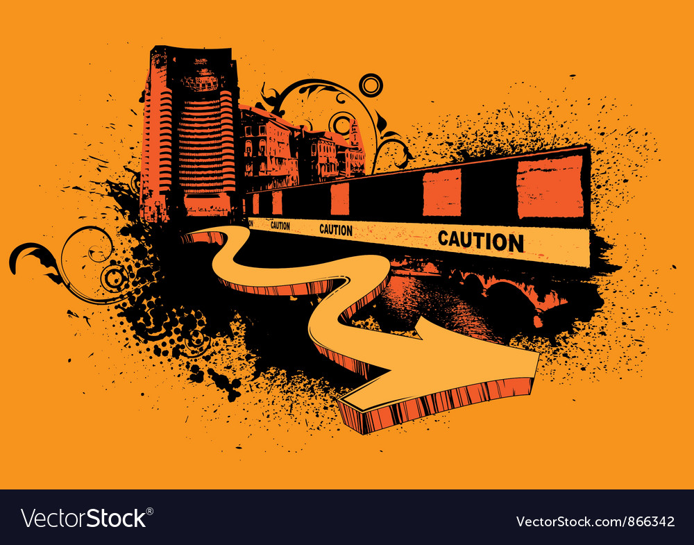 Urban poster with 3d arrow vector   Price: 1 Credit (USD $1)