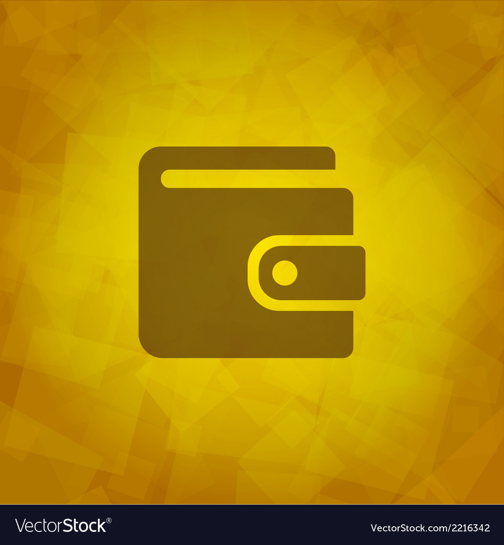 Wallet icon vector | Price: 1 Credit (USD $1)