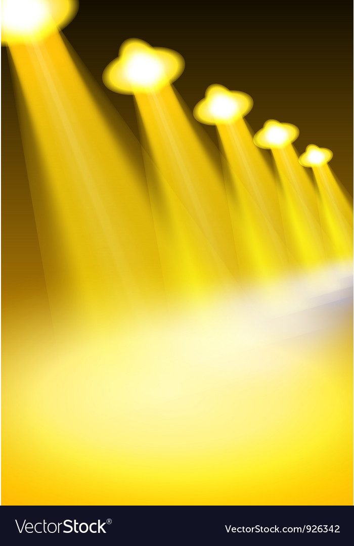 Yellow lights vector | Price: 1 Credit (USD $1)