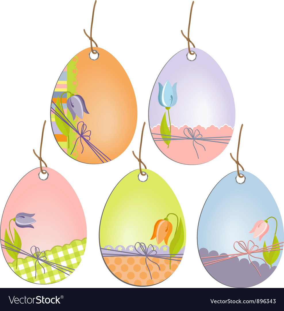 Cute easter scrapbooking tags vector | Price: 1 Credit (USD $1)
