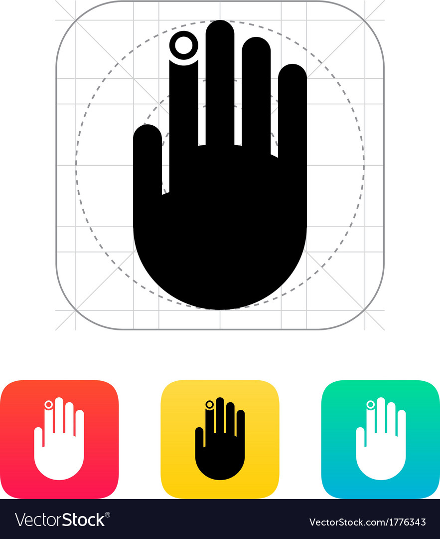 Hand finger id icon vector | Price: 1 Credit (USD $1)