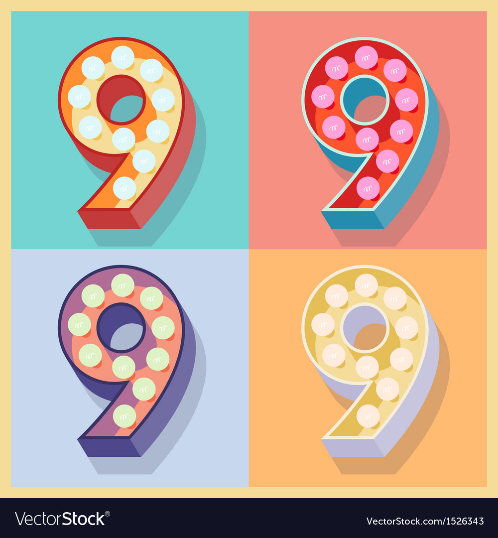 Number 9 vector | Price: 1 Credit (USD $1)