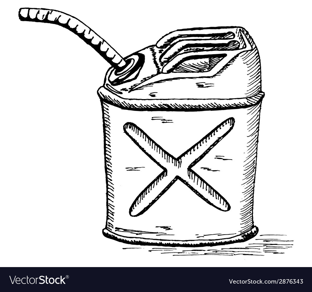 Retro cartoon gas can vector | Price: 1 Credit (USD $1)
