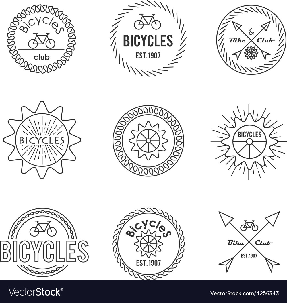 Set of outline emblems vector | Price: 1 Credit (USD $1)