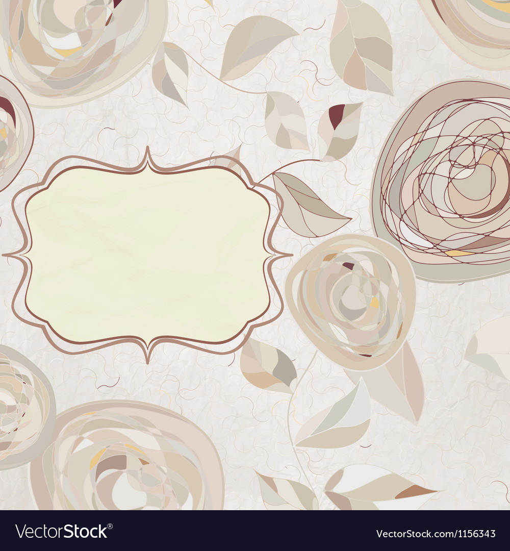 Vintage style background with flowers eps 8 vector | Price: 1 Credit (USD $1)