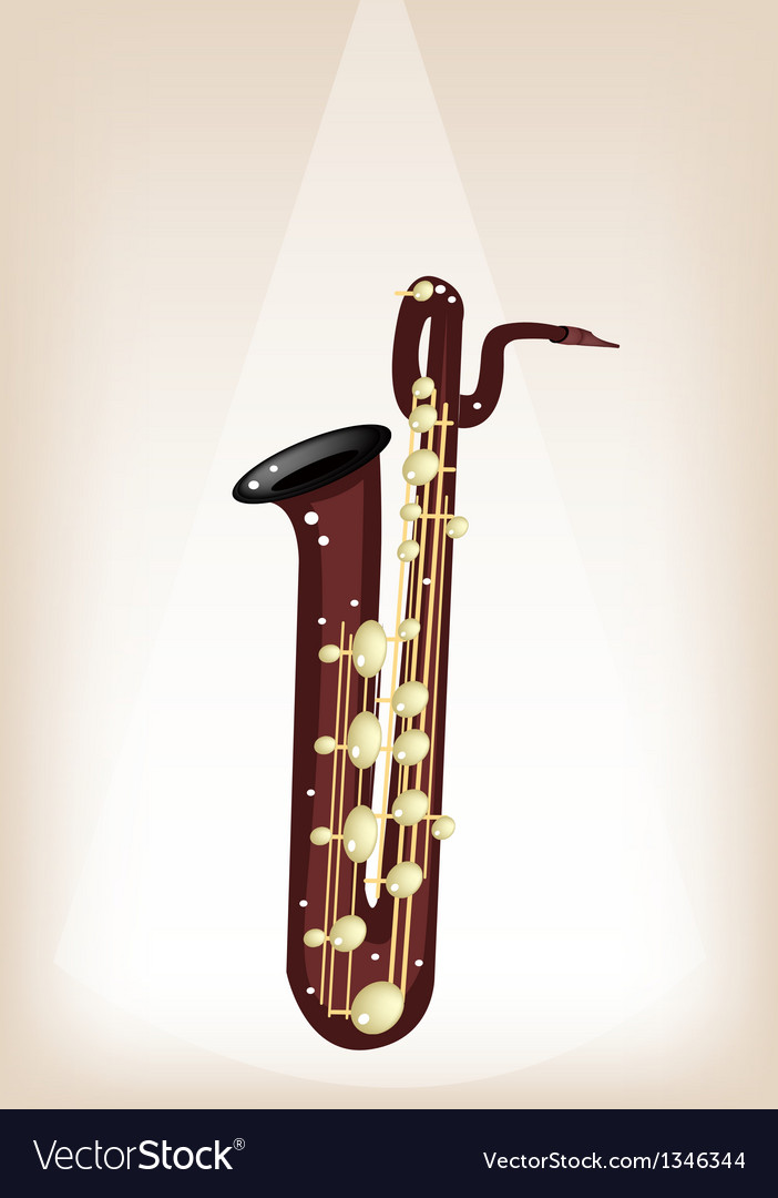 A musical baritone saxophone on stage background vector | Price: 1 Credit (USD $1)