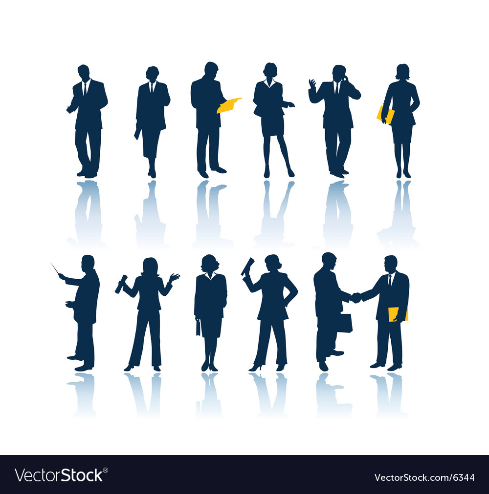 Business people outlines vector | Price: 1 Credit (USD $1)