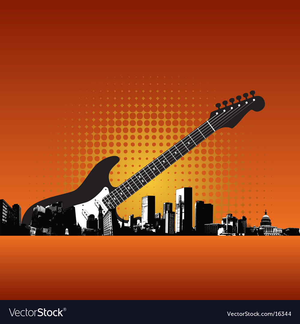 City-085221 guitar vector | Price: 1 Credit (USD $1)