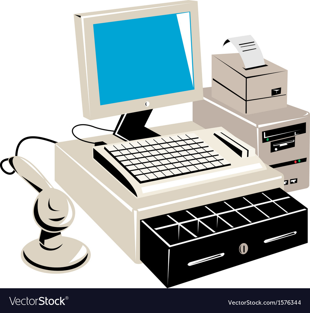 Computer cash register vector | Price: 1 Credit (USD $1)