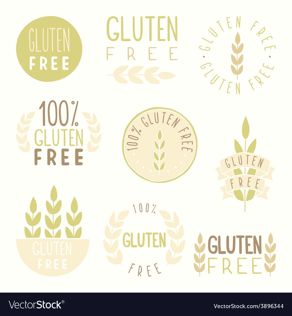 Gluten free badges vector | Price: 1 Credit (USD $1)