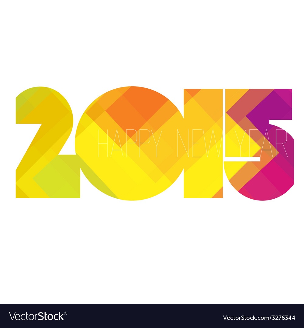 Happy new year 2015 colorful vector | Price: 1 Credit (USD $1)