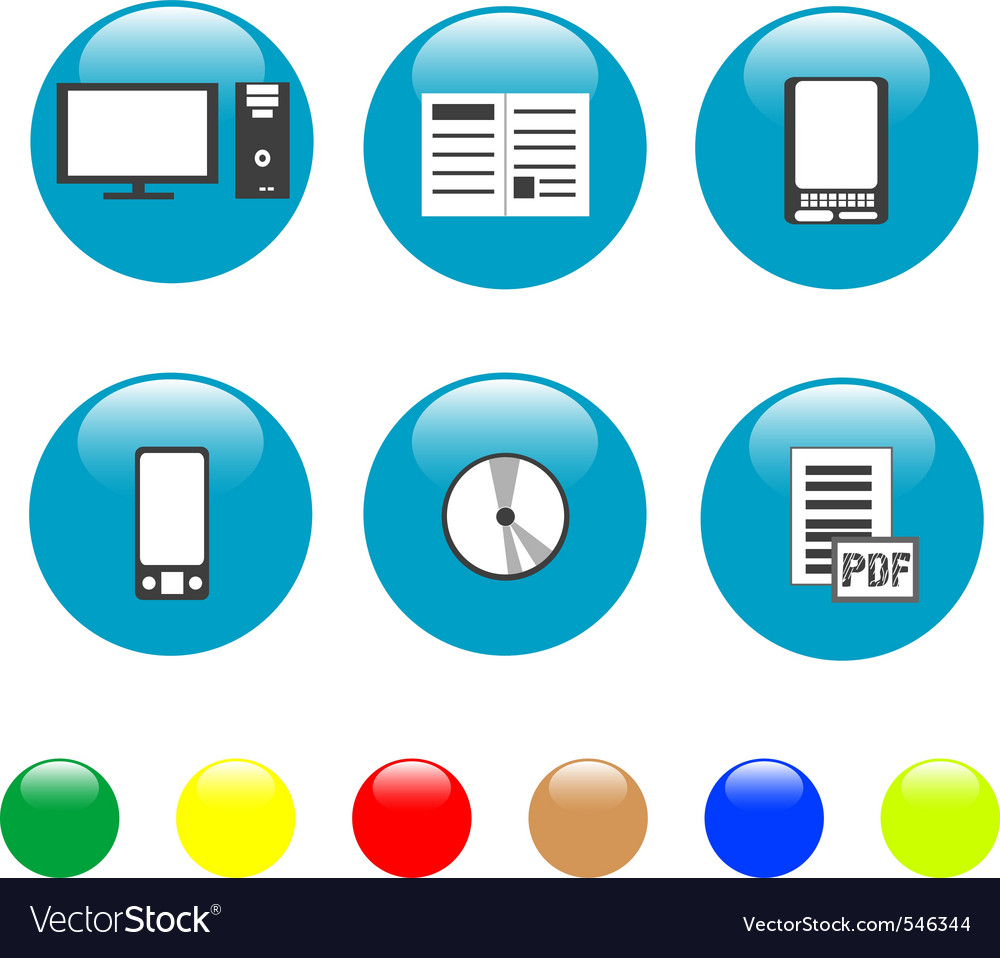 Lectronics and equipment icons vector vector | Price: 1 Credit (USD $1)