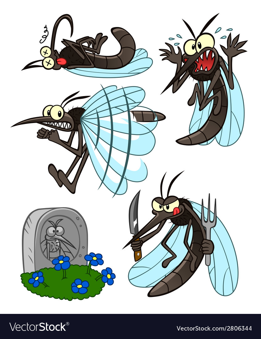 Mosquito set vector | Price: 1 Credit (USD $1)
