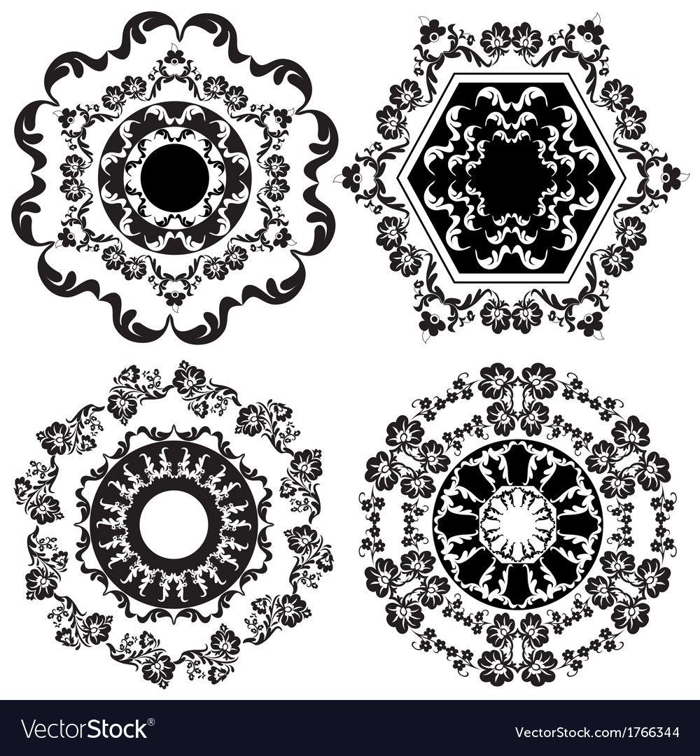 Oriental border and ornament eight vector | Price: 1 Credit (USD $1)