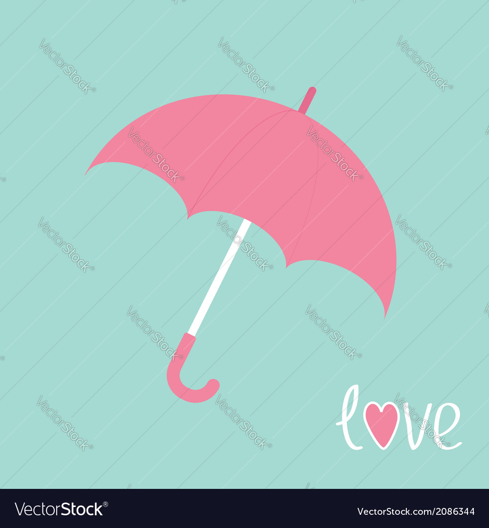 Pink umbrella love card vector | Price: 1 Credit (USD $1)