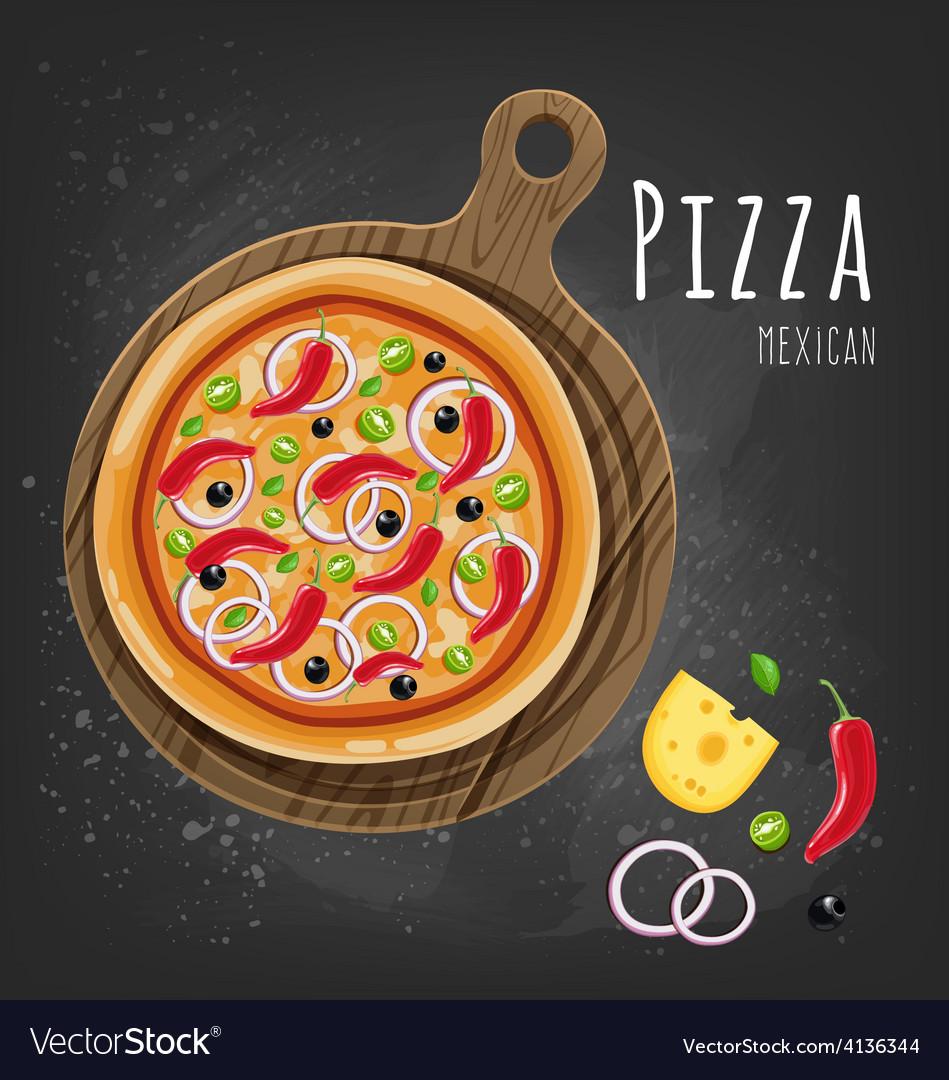 Pizza mexican vector | Price: 1 Credit (USD $1)