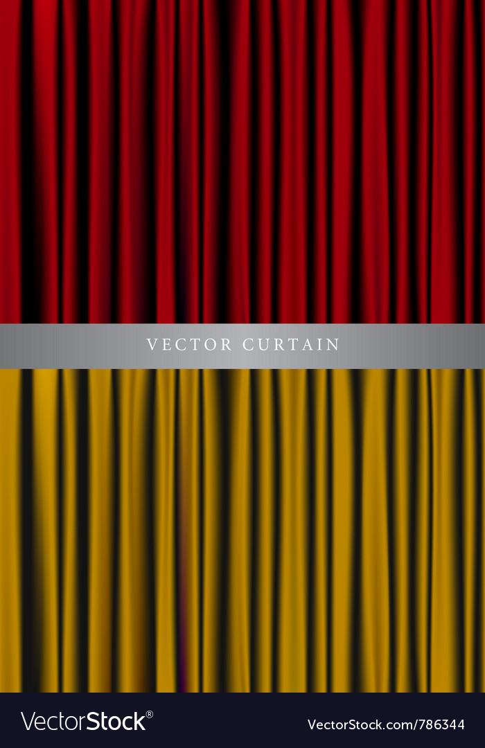 Red and gold curtain vector | Price: 1 Credit (USD $1)