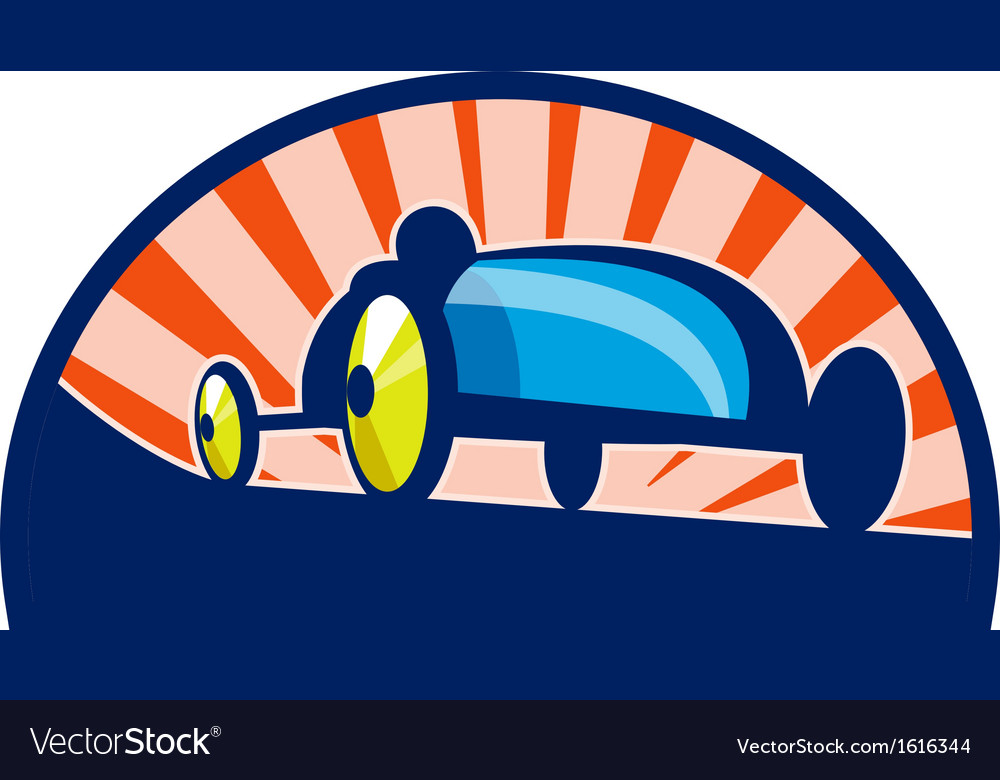 Soap box derby car racing vector | Price: 1 Credit (USD $1)