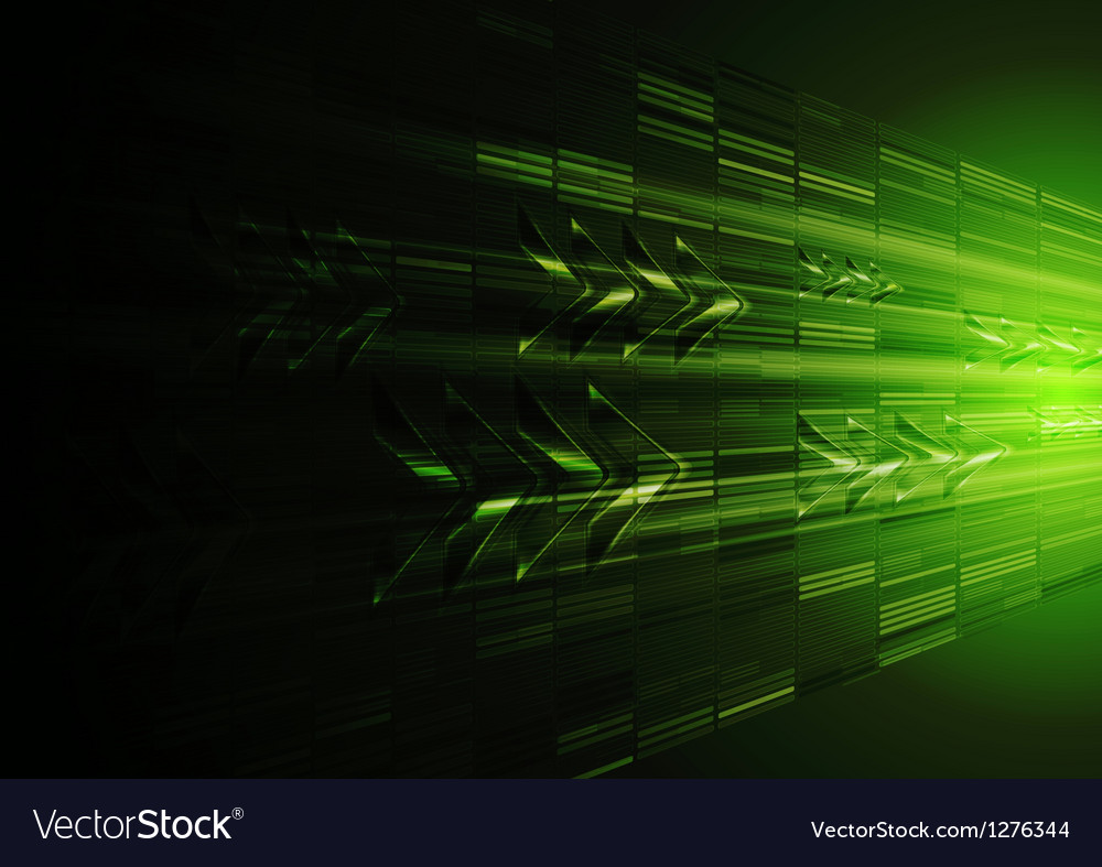 Tech green motion design with arrows vector | Price: 1 Credit (USD $1)
