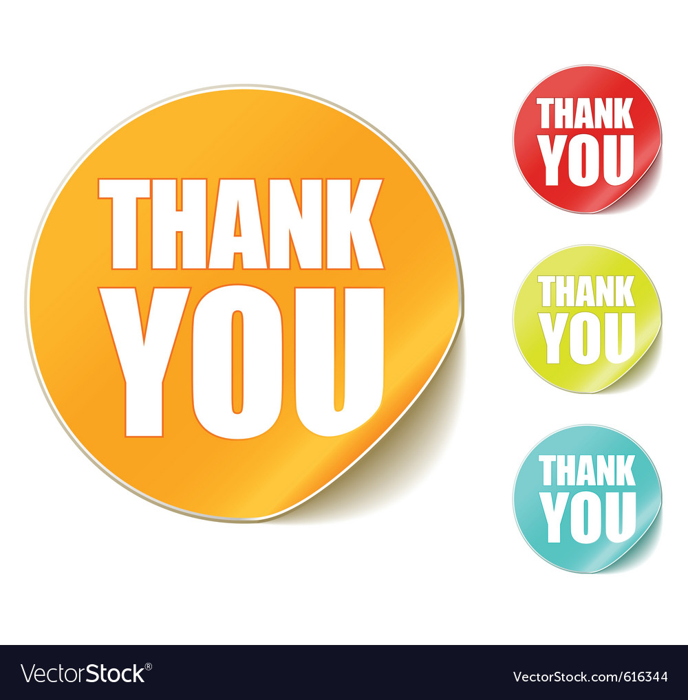 Thank you sticker vector | Price: 1 Credit (USD $1)