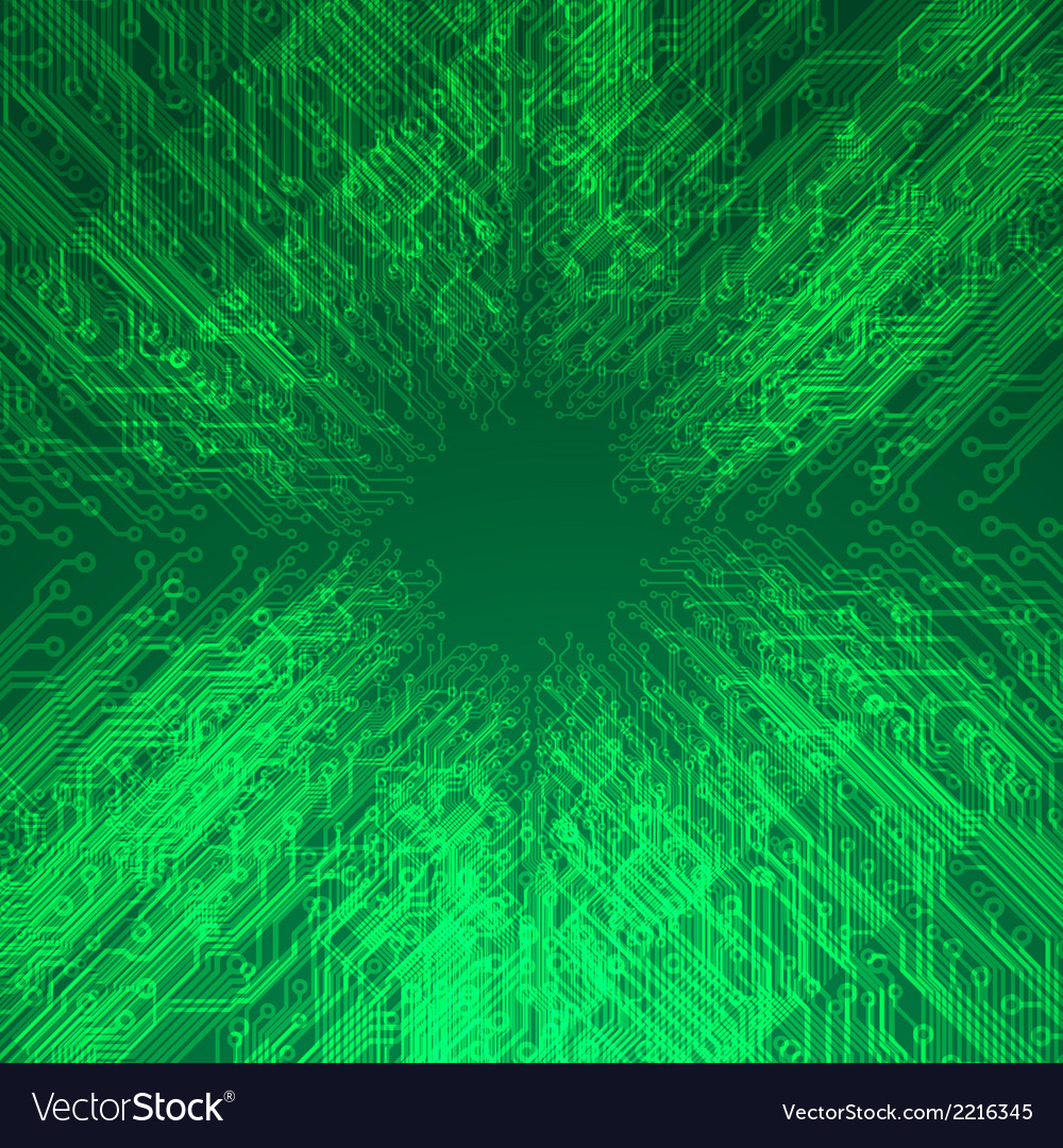 Abstract electronics green background vector | Price: 1 Credit (USD $1)