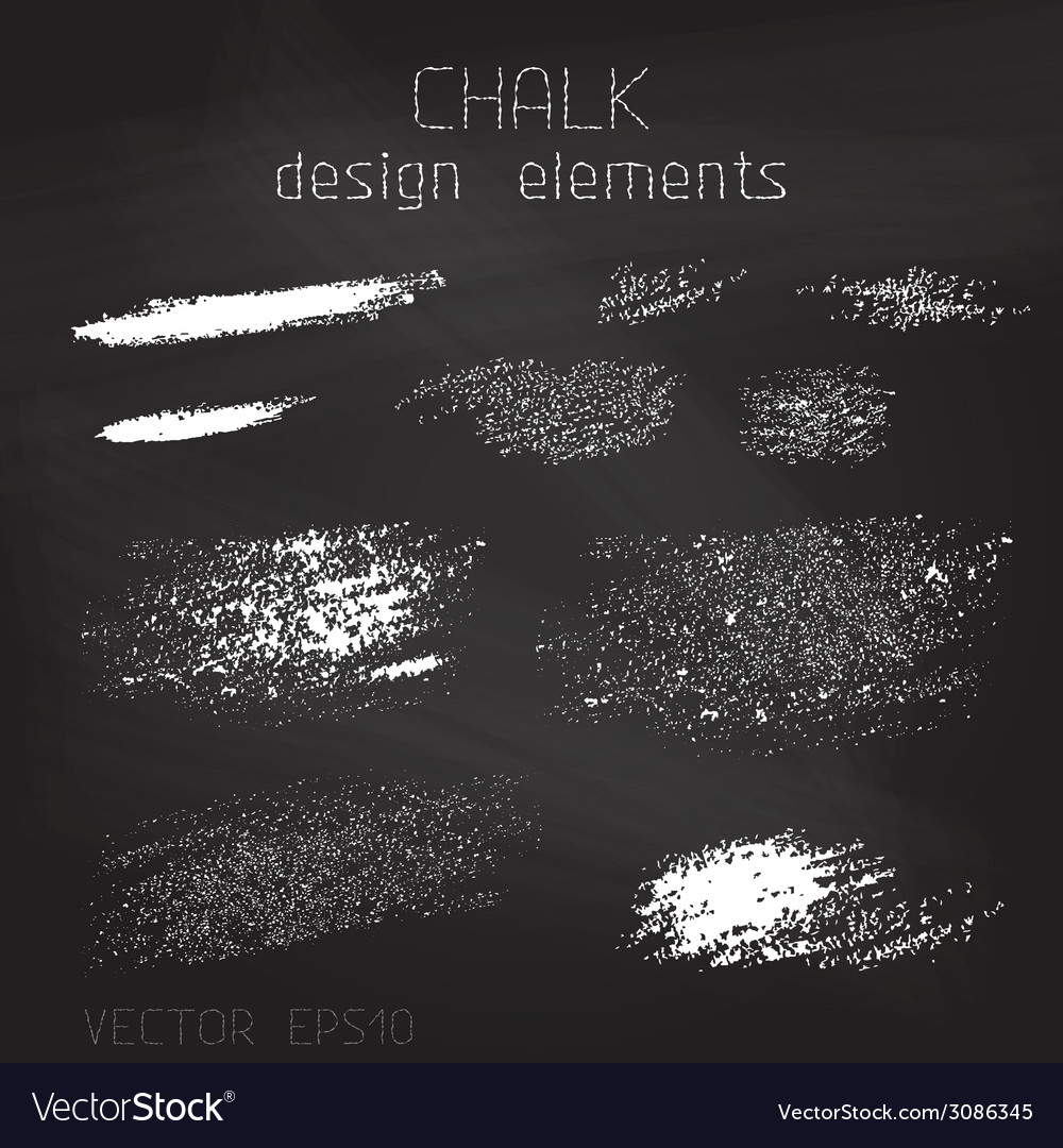 Chalk grunge elements vector | Price: 1 Credit (USD $1)