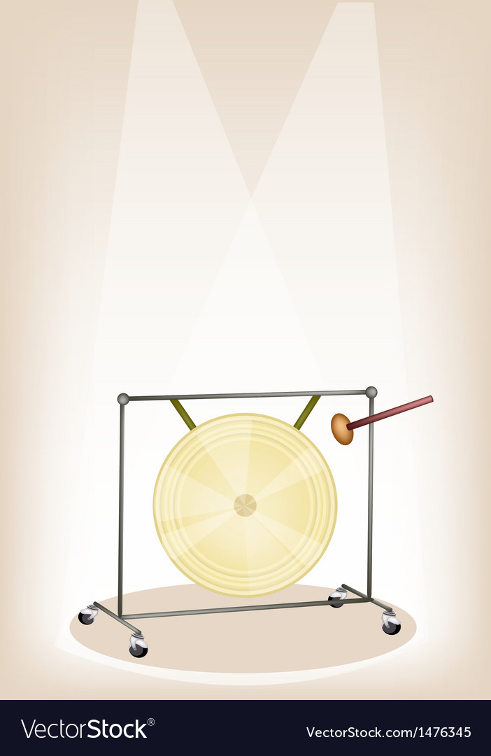 Musical gong stage background vector | Price: 1 Credit (USD $1)