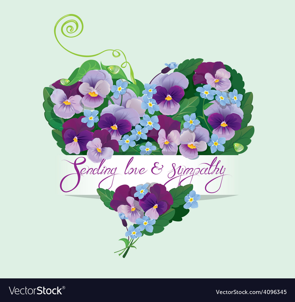Pansy heart 2 380 vector | Price: 1 Credit (USD $1)