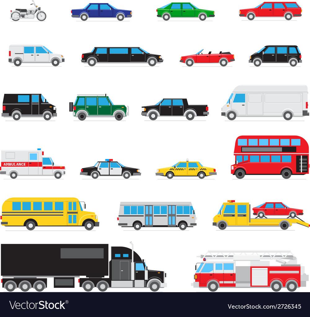 Simple auto icon set vector | Price: 1 Credit (USD $1)