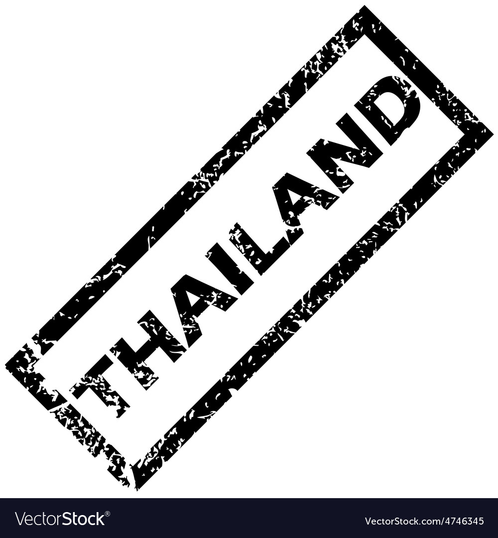 Thailand stamp vector | Price: 1 Credit (USD $1)