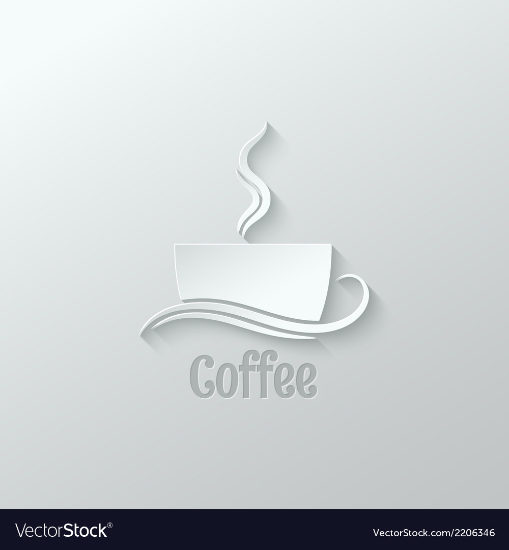 Coffee cup paper cut design background vector | Price: 1 Credit (USD $1)