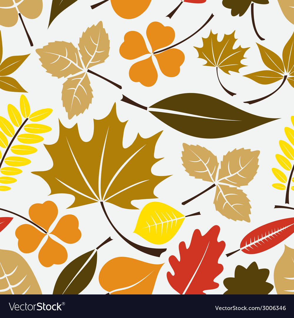 Color leaves icon seamless pattern eps10 vector | Price: 1 Credit (USD $1)