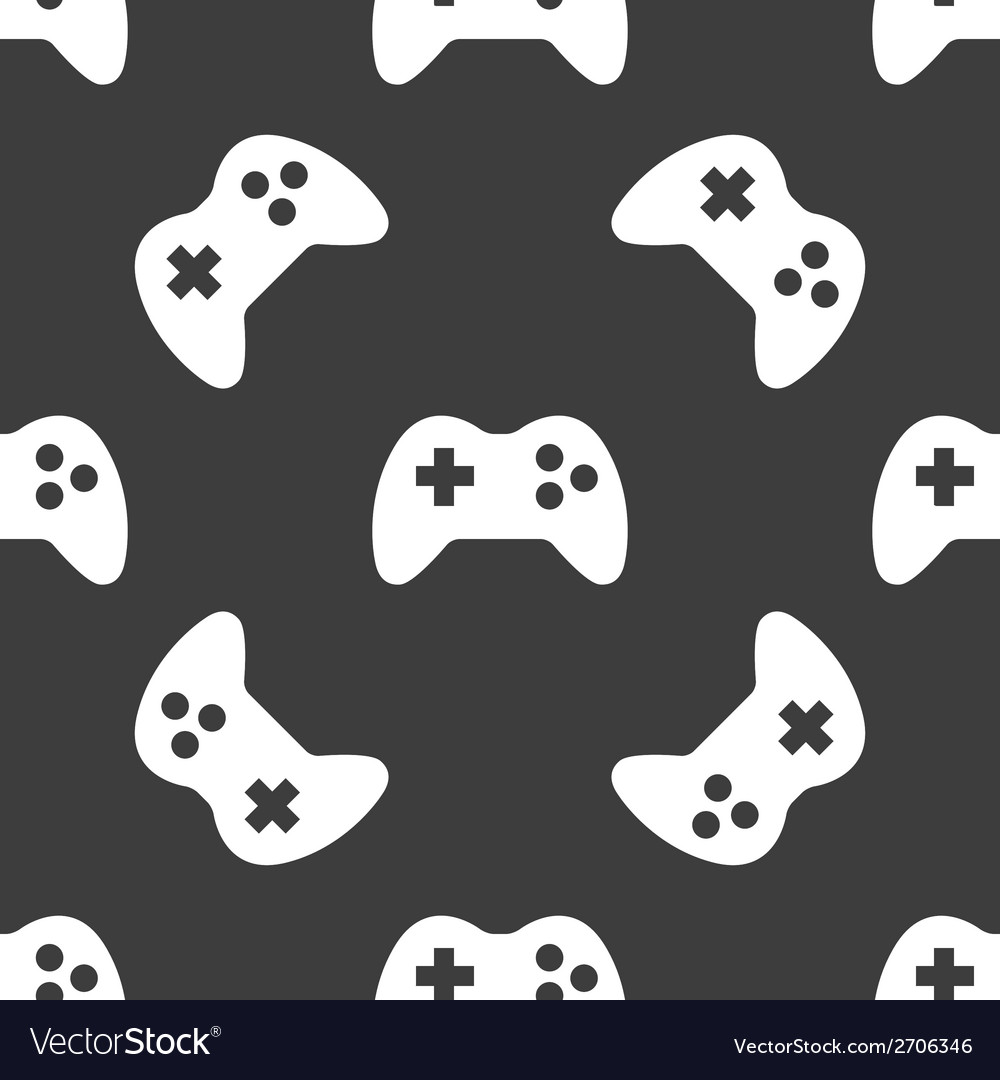 Gaming joystick web icon flat design seamless vector | Price: 1 Credit (USD $1)