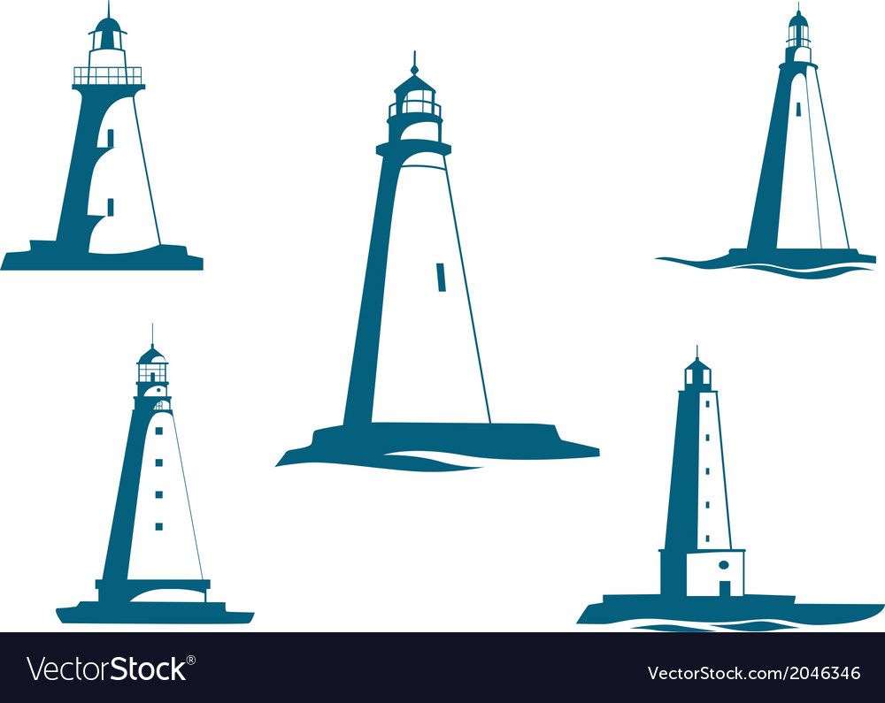 Lighthouse towers vector | Price: 1 Credit (USD $1)