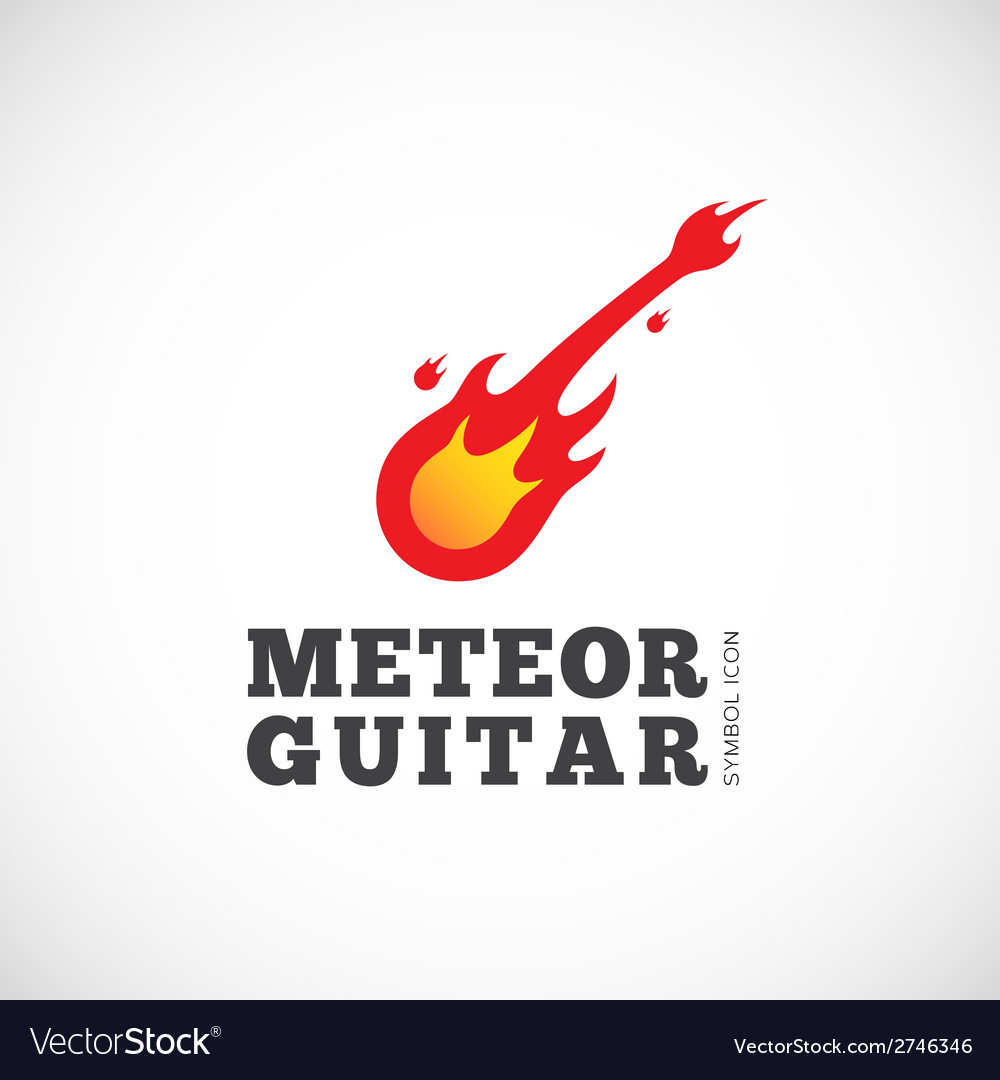 Meteor guitar concept symbol icon or logo template vector | Price: 1 Credit (USD $1)