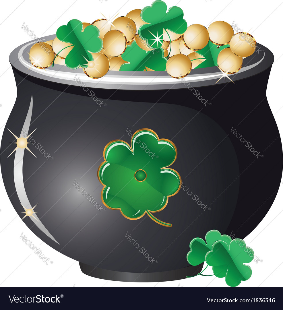 Pot of gold2 vector   Price: 1 Credit (USD $1)