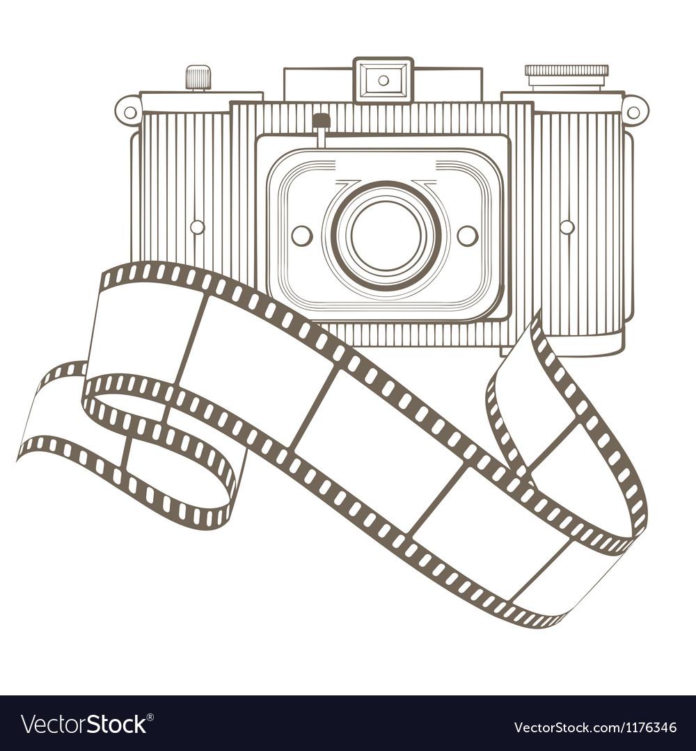 Retro photo camera with vignette vector | Price: 1 Credit (USD $1)