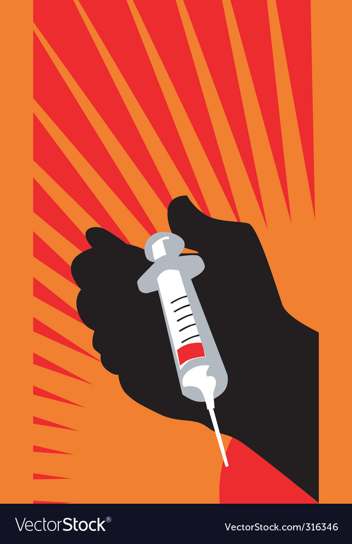 Syringe poster vector | Price: 1 Credit (USD $1)