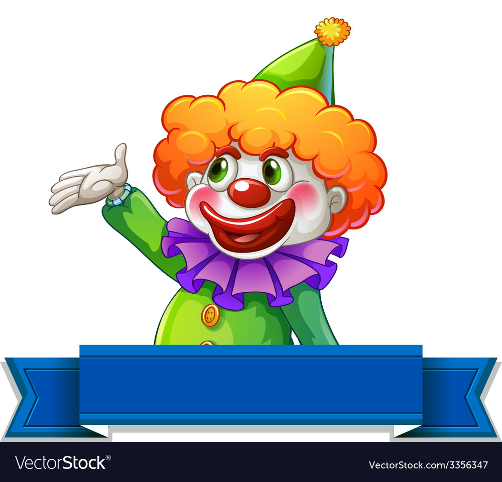 Clown label vector | Price: 3 Credit (USD $3)