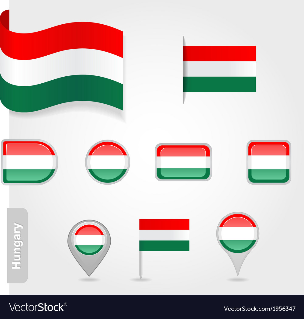 Hungary icon set of flags vector | Price: 1 Credit (USD $1)